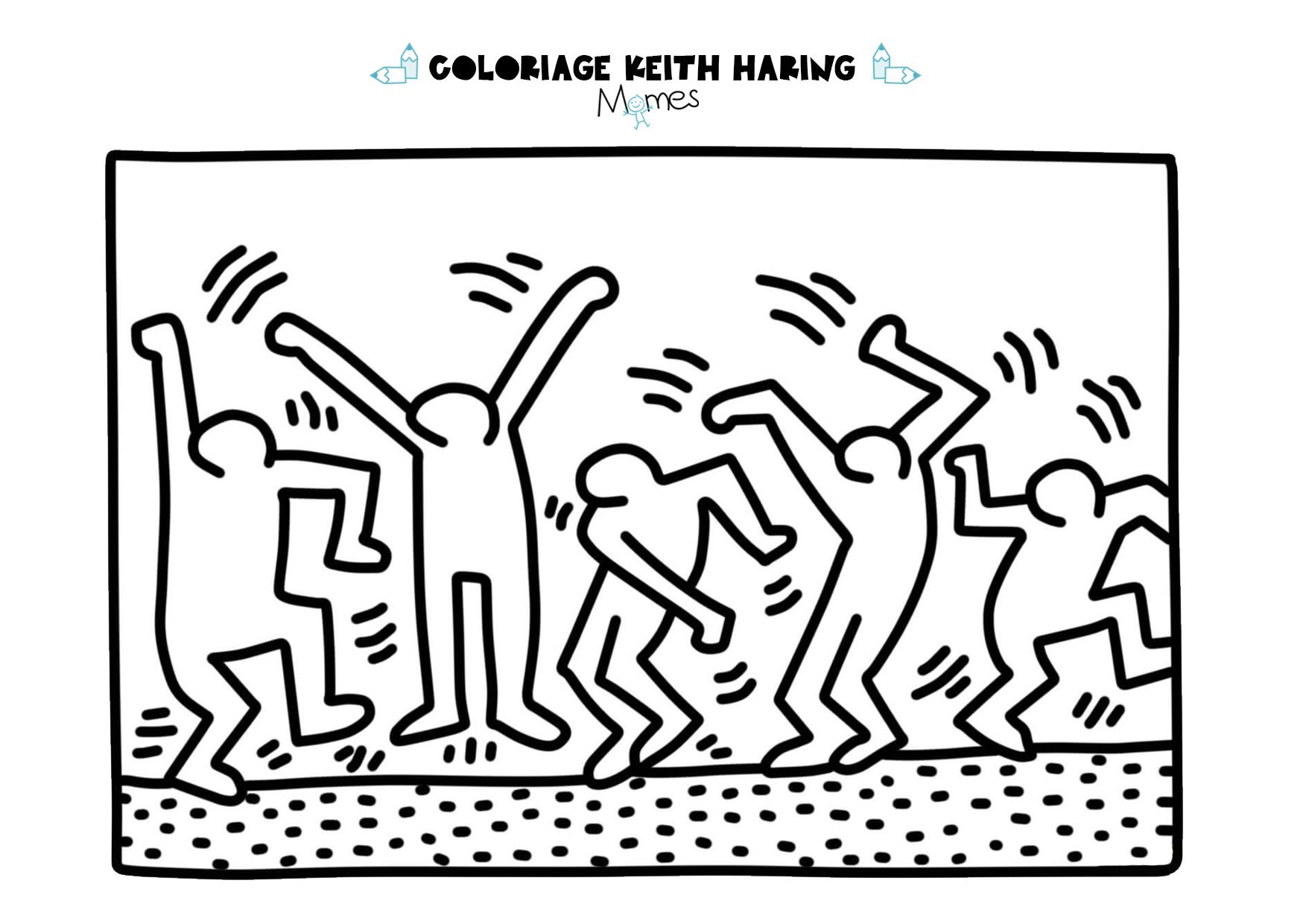 Coloriage keith haring les danceurs - Coloriage de om ...