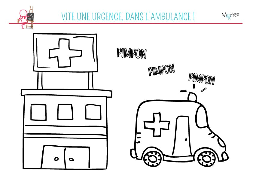 Coloriage L'ambulance
