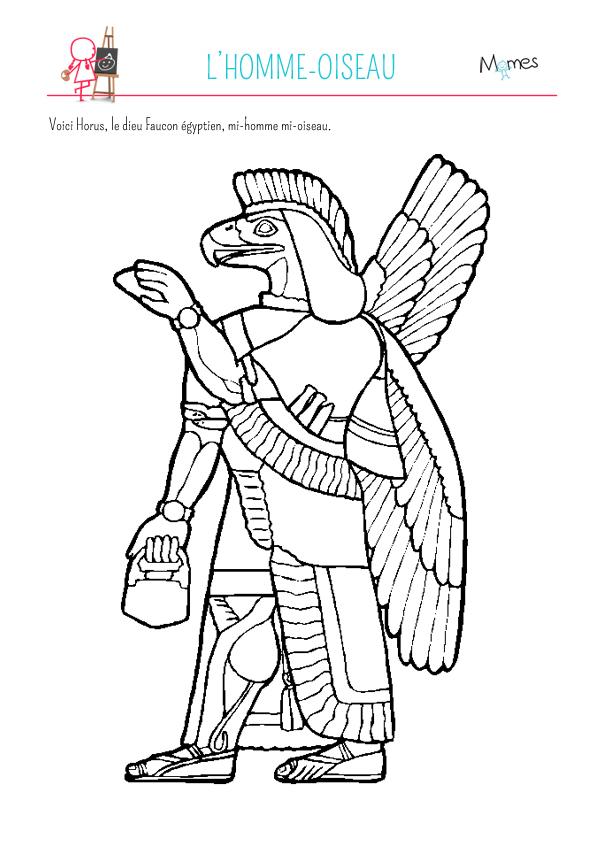 Coloriage l'homme-oiseau