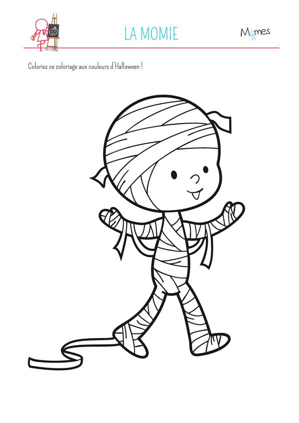 Coloriage la momie - Coloriage princesse halloween ...