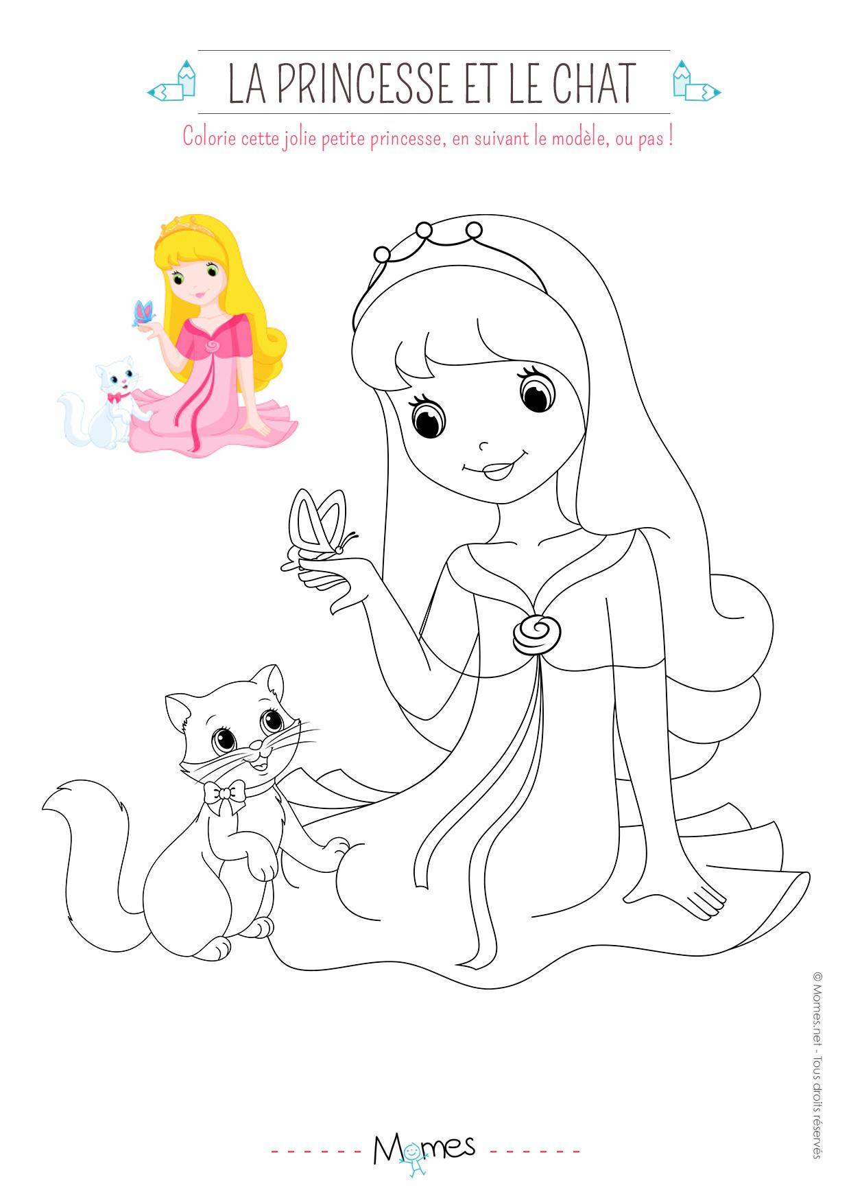 imprimer - Princesse A Colorier