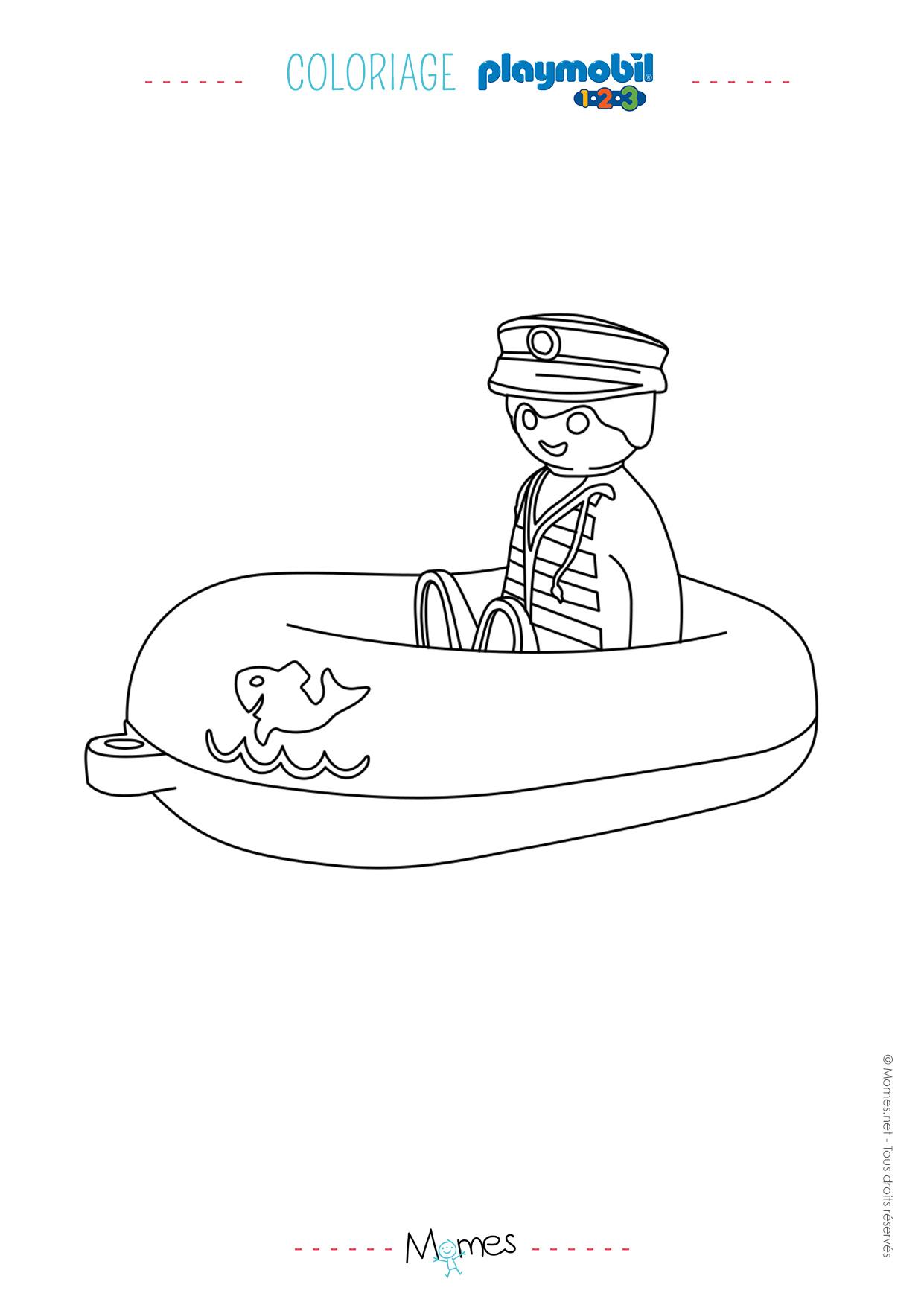 Coloriage le bateau et son capitaine playmobil 123 - Coloriage colorier ...