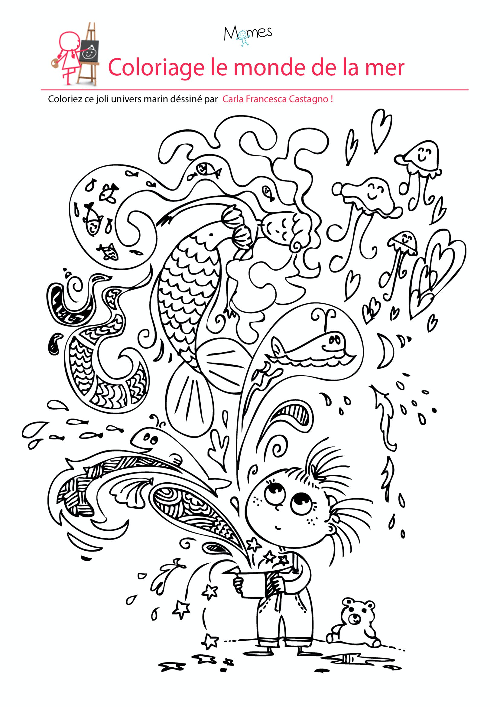 Coloriage le monde de la mer  imprimer
