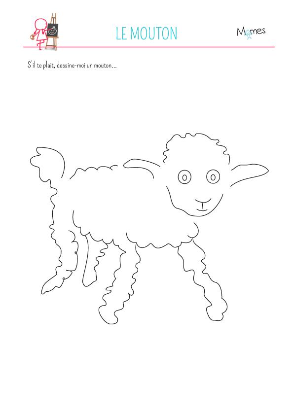 Coloriage le Petit Prince: le mouton - Momes.net