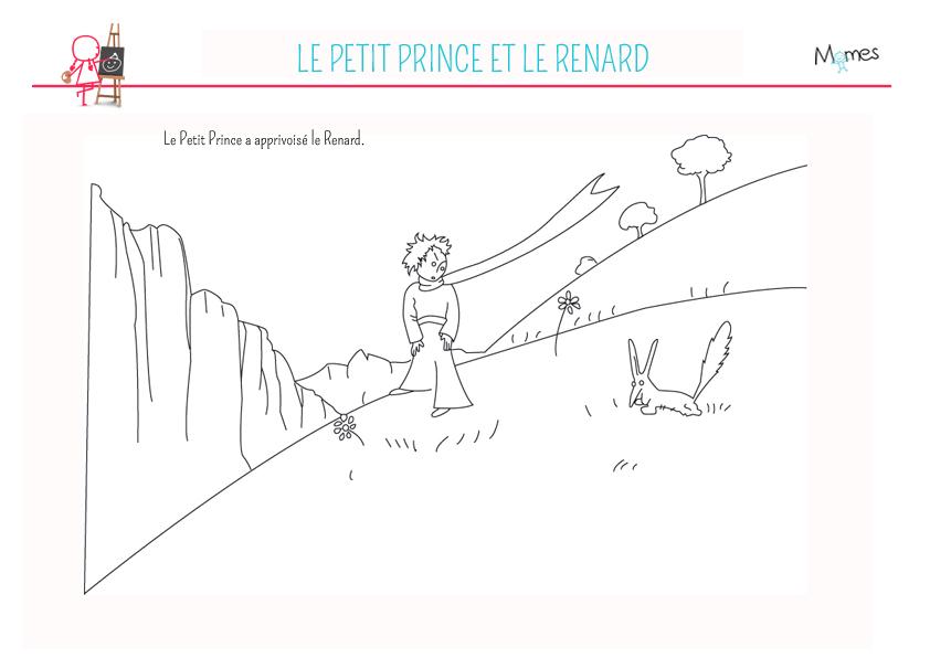 Coloriage Le Petit Prince Le Petit Prince Et Le Renard