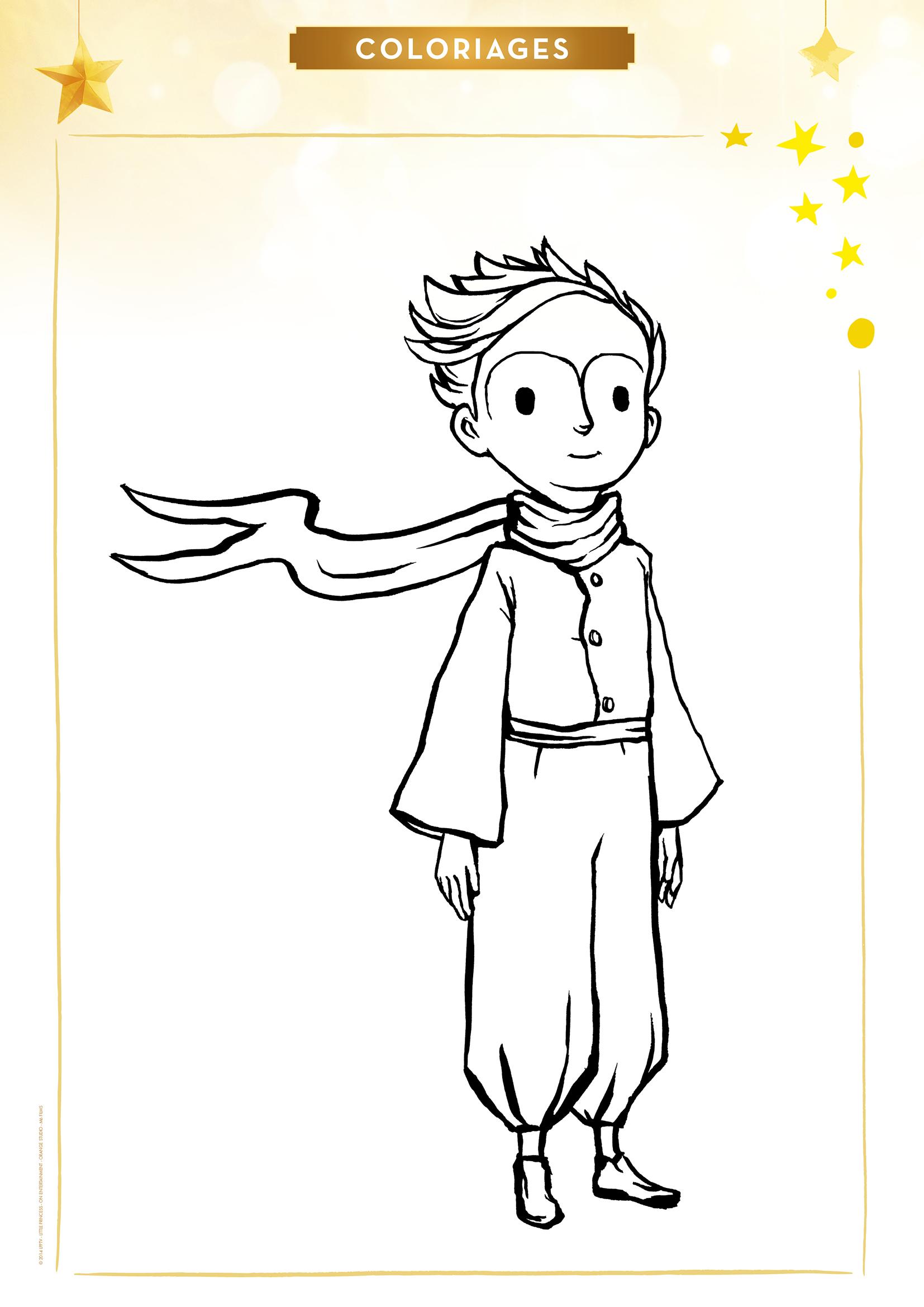 Coloriage le petit prince - Coloriage petit renard ...