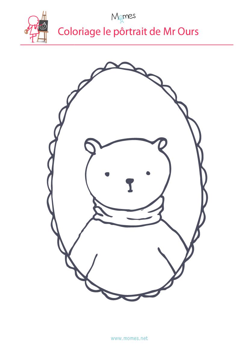 coloriage ours à imrprimer