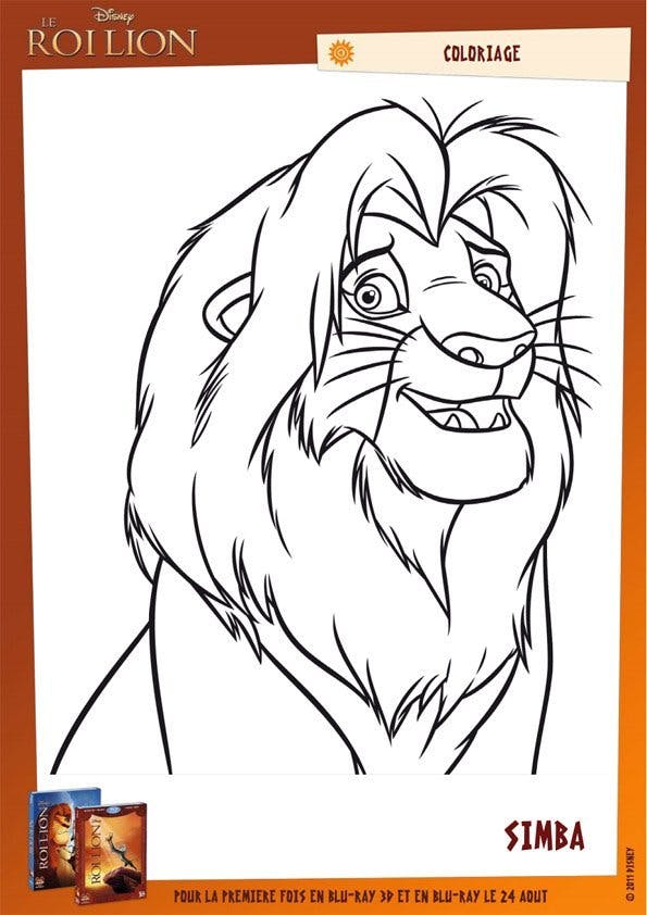 Coloriage Le Roi Lion (22)