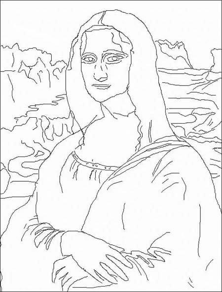 Coloriage Leonardo da Vinci [1452-1519]