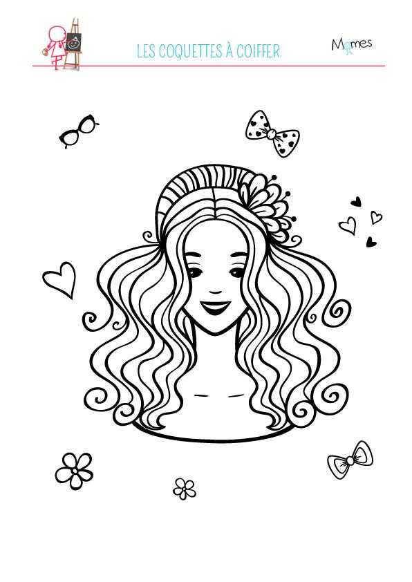coloriage coiffure à impirmer