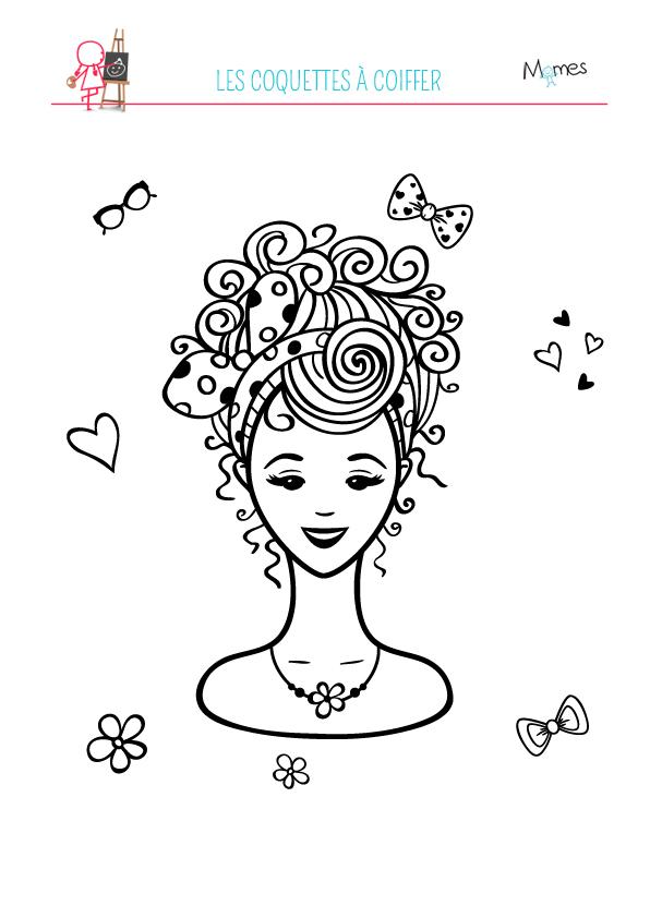 coloriage coiffure à imprimer