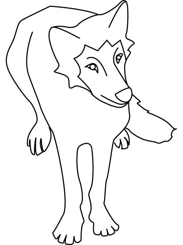Coloriage les loups - Dessin du loup ...