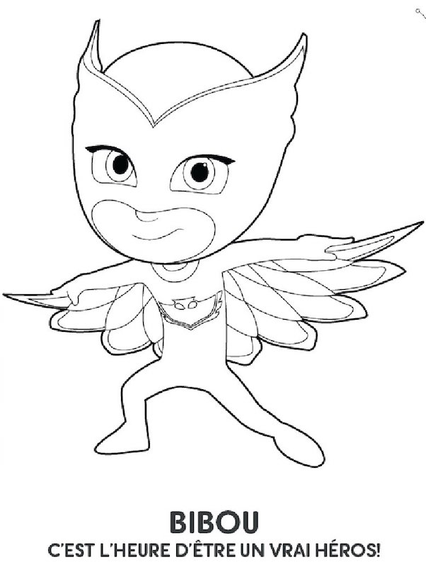 Coloriage les pyjamasques bibou - Coloriage heros ...