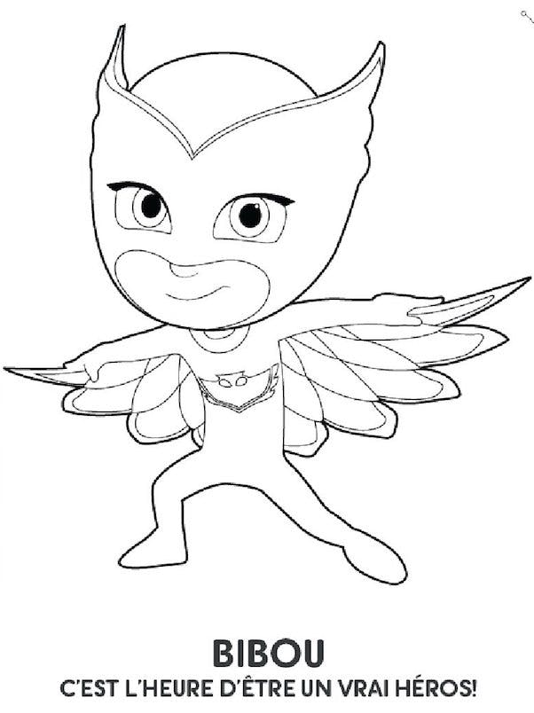 Coloriage les pyjamasques bibou - Superhero dessin ...