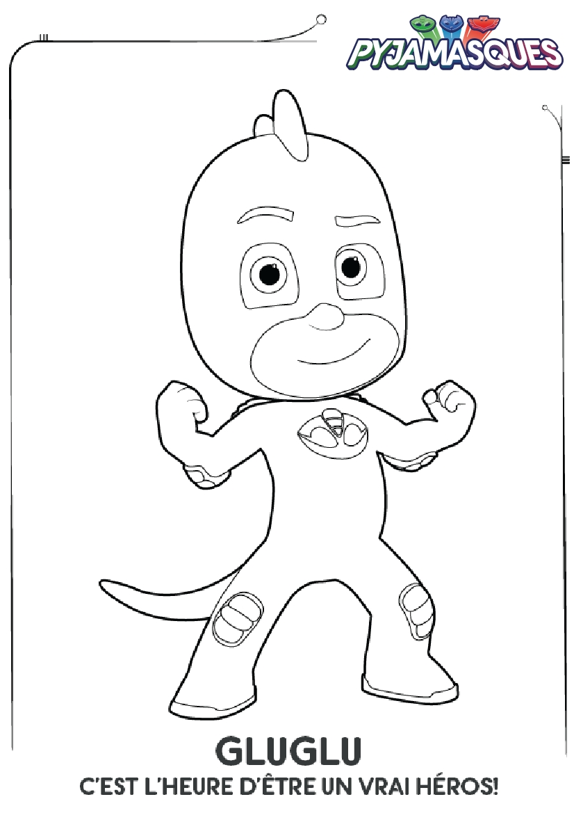 Coloriage Les Pyjamasques : Gluglu