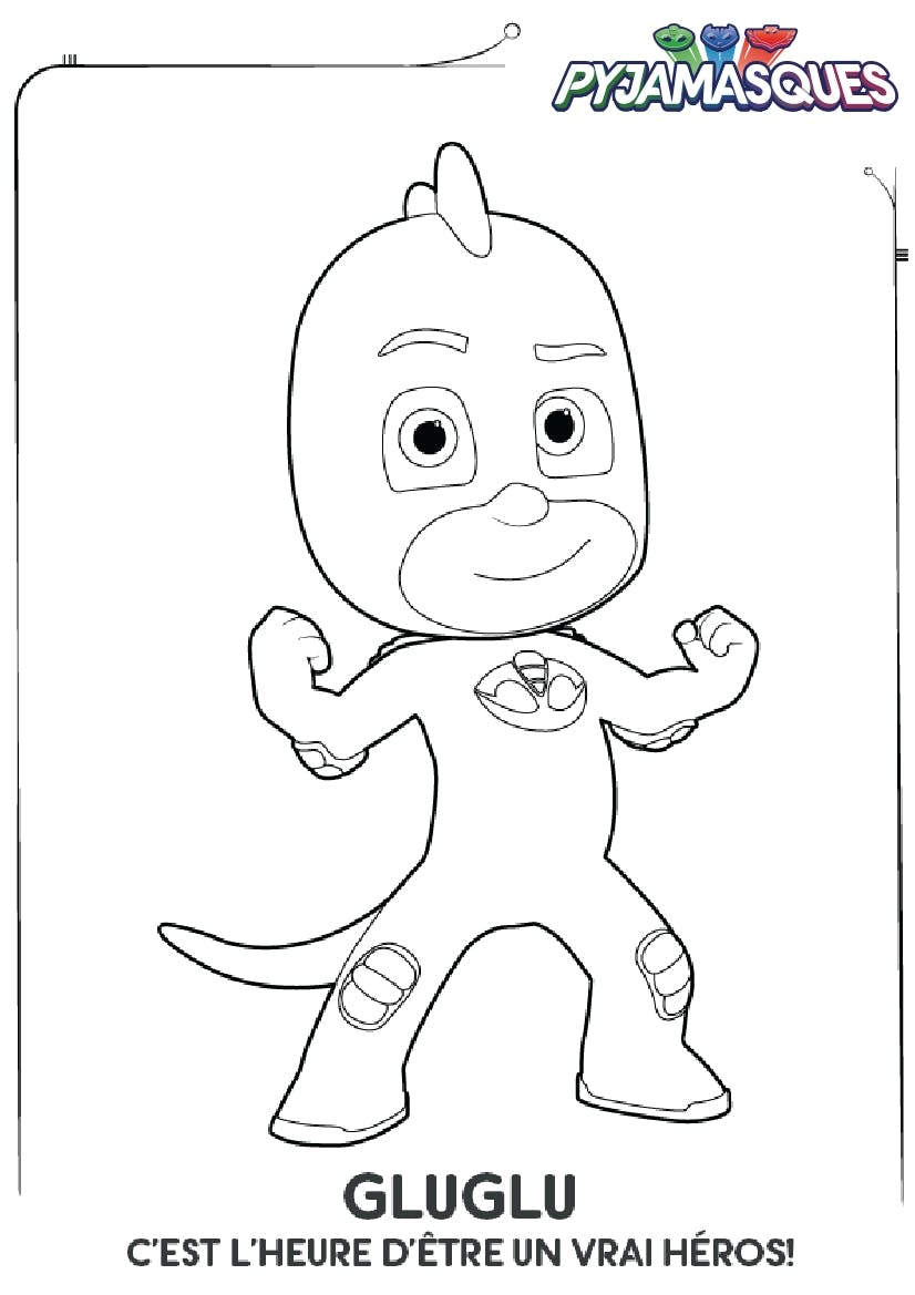 Coloriage les pyjamasques gluglu - Pyjamasques coloriage ...