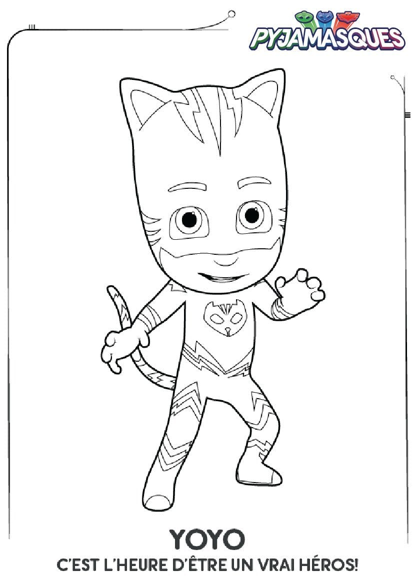 Coloriage Les Pyjamasques : Yoyo