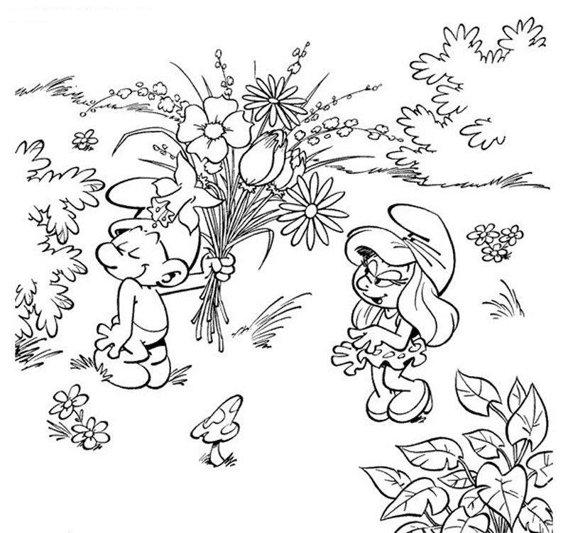 Coloriage les schtroumpfs 20 - Dessin des schtroumpfs ...
