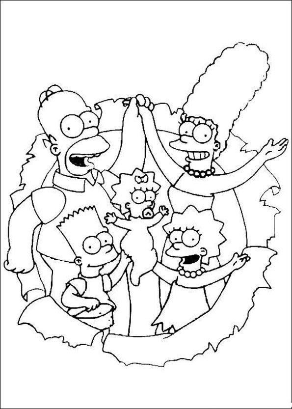Dessin A Imprimer Famille Simpson