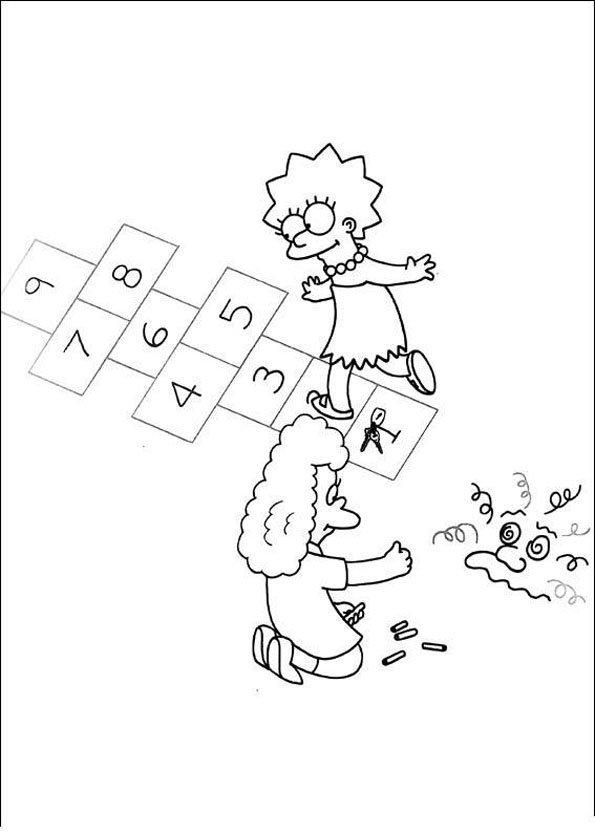 Coloriage les simpsons 1 - Dessin de simpson a imprimer ...