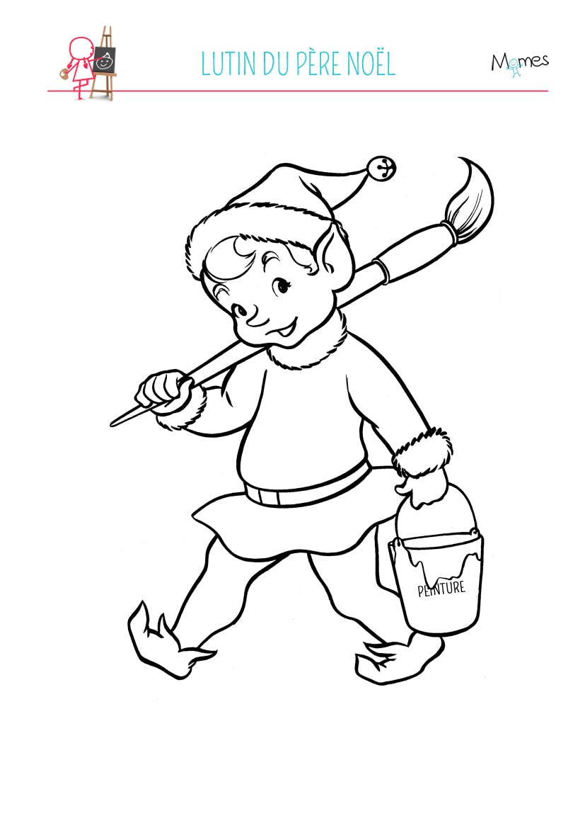 Coloriage lutin du p re no l - Coloriage lutins ...