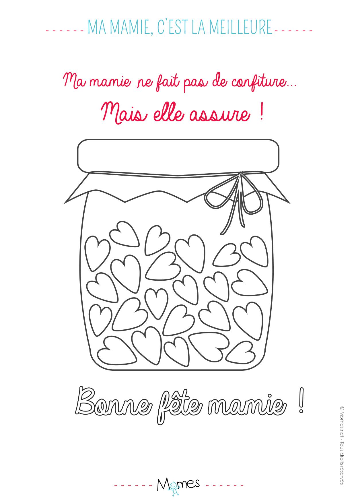 Coloriage Ma Mamie Cest La Meilleure Confiture Momesnet