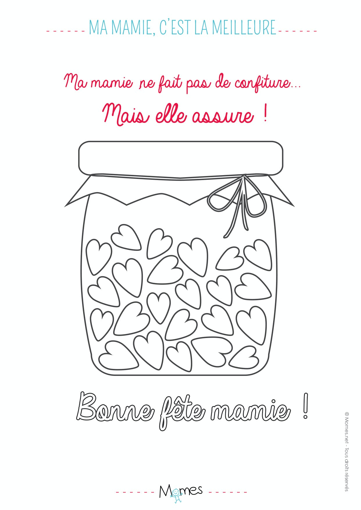 coloriage mamie confiture