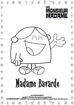 Coloriage Madame Bavarde