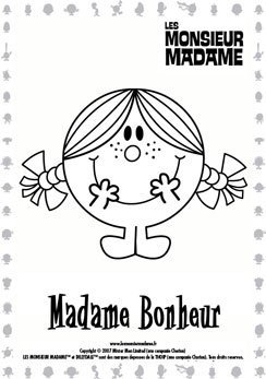 Coloriage Madame Bonheur
