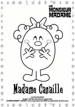Coloriage Madame Canaille