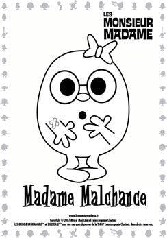 Coloriage Madame Malchance