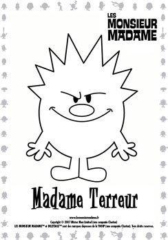 Coloriage Madame Terreur