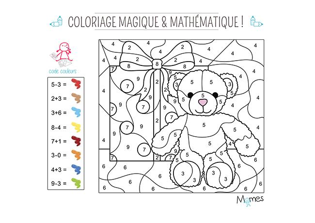 Coloriage magique et math matique no l - Coloriage magique de noel a imprimer ...