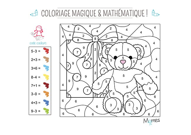 Coloriage magique noel