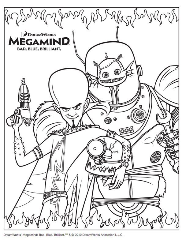 Coloriage Megamind 1
