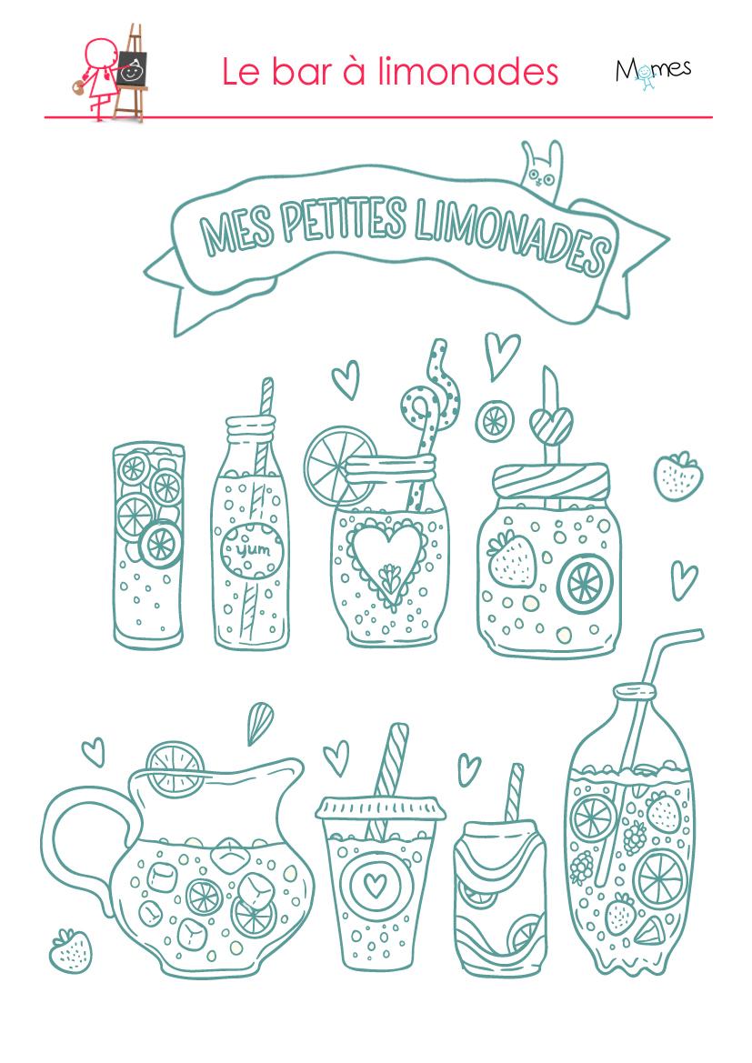 coloriage limonade à imprimer