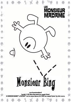 Coloriage Monsieur Bing