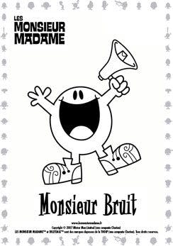 Coloriage Monsieur Bruit