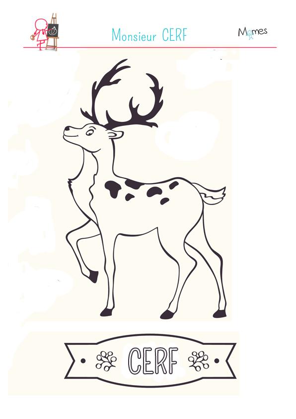 Coloriage monsieur cerf - Coloriage de cerf ...