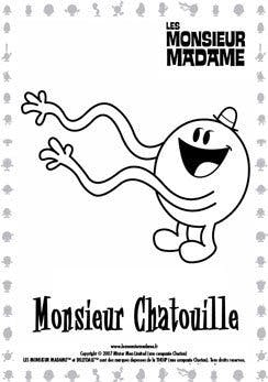 Coloriage Monsieur Chatouille