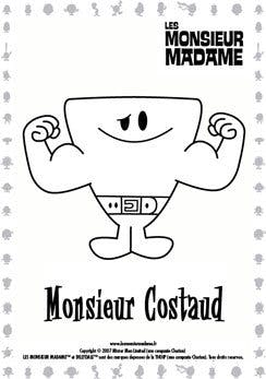 Coloriage Monsieur Costaud