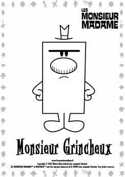Coloriage Monsieur Grincheux