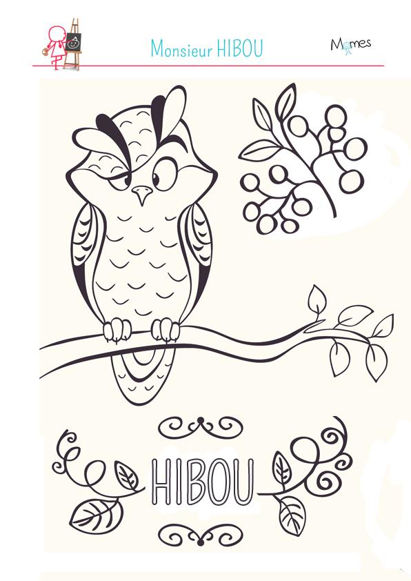 Coloriage Monsieur Hibou