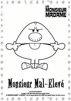 Coloriage Monsieur Mal élevé