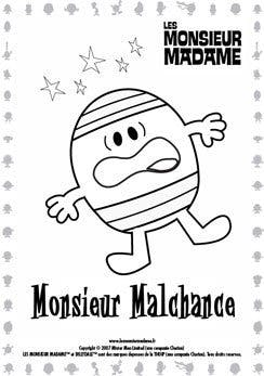 Coloriage Monsieur Malchance