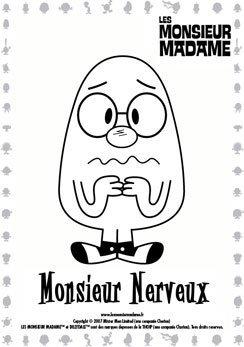 Coloriage Monsieur Nerveux