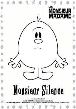 Coloriage Monsieur Silence