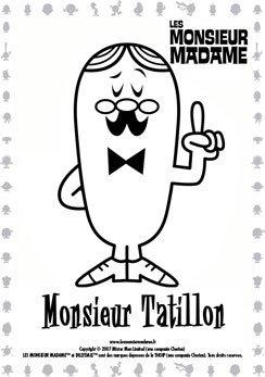 Coloriage Monsieur Tatillon