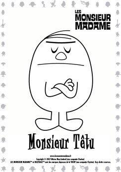 Coloriage Monsieur Têtu