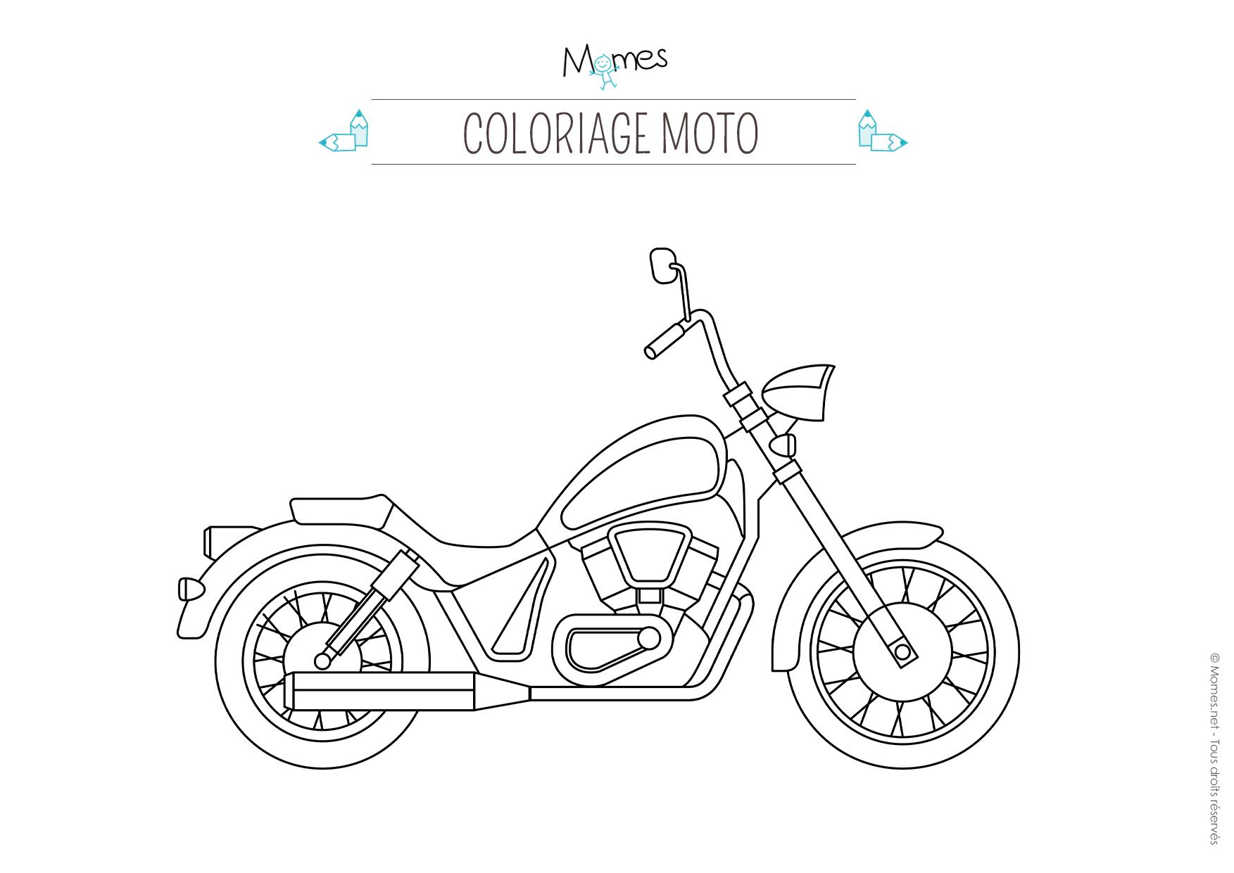 Coloriage moto - Dessin moto a colorier ...